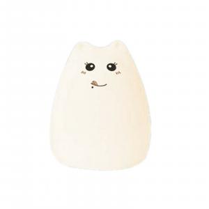 Lampada gatto in morbidissimo silicone cambia colore a tocco dim. 16x11 cm circa