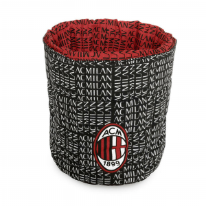 MILAN Porta oggetti trapuntato, ROSSONERO cotone stampato lavabile in lavatrice