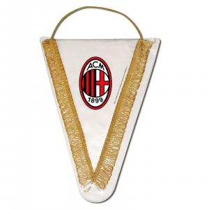 gagliardetto MILAN prodotto ufficiale raso stampato logo centrale cm 18x14