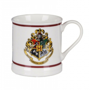 TAZZA HARRY POTTER CON STEMMA DI HOGWARTS SPLENDIDA IDEA REGALO. H 8,5 - D. 9 cm