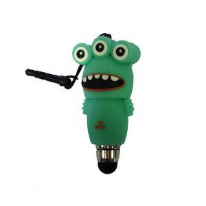 I-TOTAL Pennino per touch con jack da 3,5 mm a forma mostro verde acqua