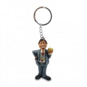Portachiavi mestieri in resina IL BOSS idea regalo ragazzo uomo 12 cm les alpes