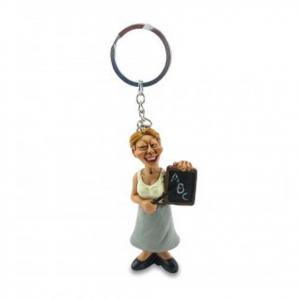 Portachiavi mestieri in resina MAESTRA idea regalo ragazza donna 12 cm les alpes