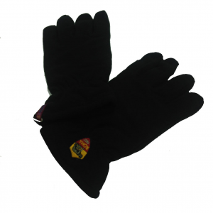 ROMA guanto da uomo nero dorso in pile e palmo in tessuto gommato varie taglie