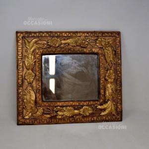 Specchio Con Cornice Dorata 38*33 Cm