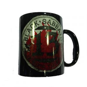 Tazza in ceramica Black Sabbath con album 13. Prodotto ufficiale 12x10cm