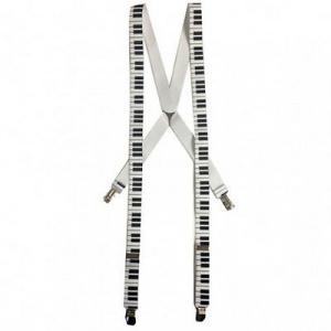 Bretella pianoforte bianca e nera per adulto 25mm