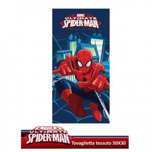 SPIDERMAN tovaglietta colazione/asciugamani e viso in tessuto di spugna 50x30 cm
