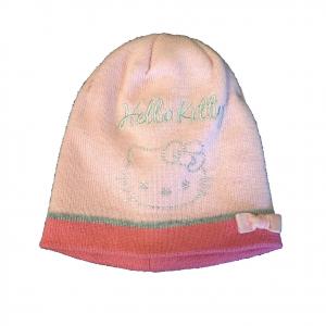HELLO KITTY cappellino ricamato con glitter in lana rosa con fiocchetto da bambi