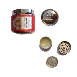 Tritatabacco Grinder lattina rossa 3 parti regalo uomo articolo per fumatori 4,5