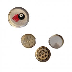 Tritatabacco Grinder acciaio 3 parti regalo uomo articolo per fumatori 5x3,5 cm
