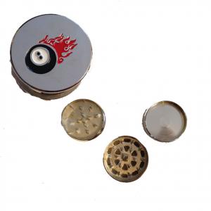 Tritatabacco Grinder palla n.8 3 parti regalo uomo articolo per fumatori 5x3 cm