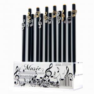 matita con NOTA MUSICALE in metallo con strass e top  CON BRILLANTINO