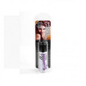 Spray tattoo temporanei marrone+ 3 stencil inclusi + 1 spray nero in omaggio