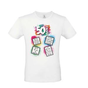 50 anni t-shirt 50 anni gadget 50 anni CINQUANTESIMO COMPLEANNO MAGLIA 50 ANNI
