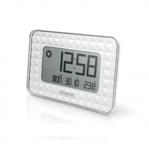 OREGON SCIENTIFIC orologio bianco radio controllato calendario temperatura inter