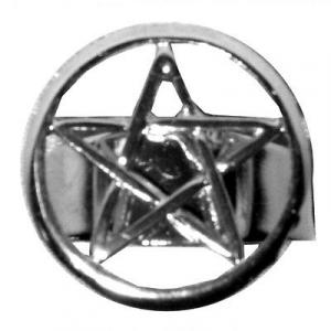 Anello con PENTACOLO regolabile in metallo