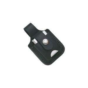 Porta ZIPPO da cintura in vera pelle nera con automatico prodotto originale