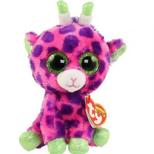 Peluche TY BEANIE BOOS GILBERT giraffa fucsia 15 cm IDEA REGALO
