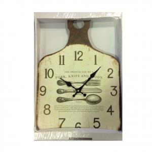 Orologio cucina parete tagliere in legno decorato shabby chic home design 43x30