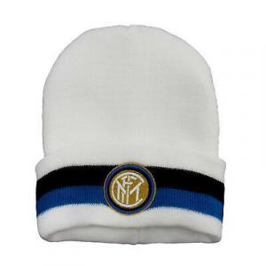 INTER cappello bianco bicolor con stemma ricamato da uomo
