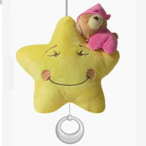 stella CARILLON con orsetto pigiamino baby(0 mesi +) ninna nanna ROSA DE.CAR2