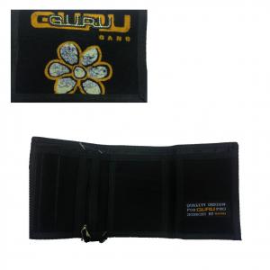 GURU GANG portafoglio con strappo in stoffa nero 13x9 cm da donna