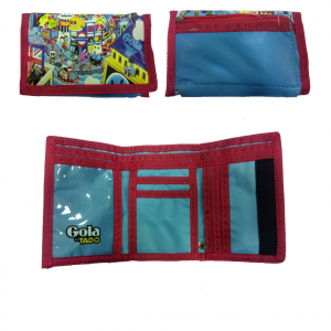 GOLA portafoglio in eco-pelle celeste TADO 13,5x9,5 cm idea regalo ragazzo