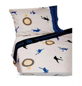Lenzuola INTER una piazza 3 pezzi federa lenzuolo sopra lenzuolo sotto