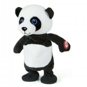 Decar Ripetix panda-Peluche che ripete tutto quello che dici e cammina 20cm