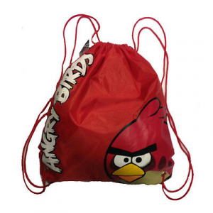 Zaino coulisse ANGRY BIRDS rosso 35,5x30 cm