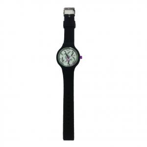 Orologio polso H2X acciaio e silicone nero con acchiappasogni intercambiabili