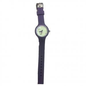 Orologio polso H2X acciaio e silicone viola intercambiabili da donna