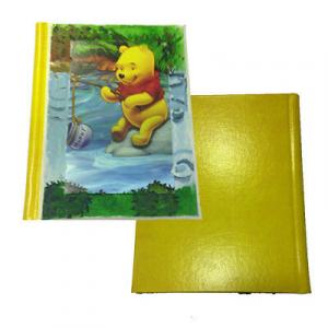 Album foto in eco-pelle gialla con WINNIE THE POOH su legno dipinto a mano
