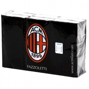 fazzoletti MILAN 6 pacchetti tascabili clean paper con logo
