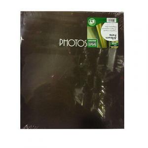 Album fotografie in tessuto marrone 50 fogli in cartoncino rilegatura a libro