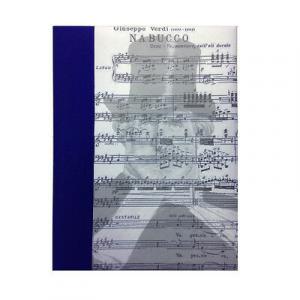 Album foto Giuseppe Verdi Nabucco telato 30 fogli in cartoncino e velina