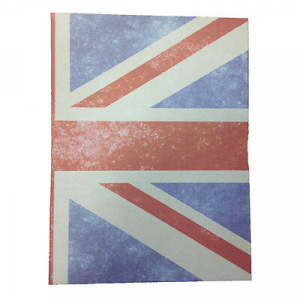 Album foto con bandiera UK telato grigio 30 fogli in cartoncino e velina
