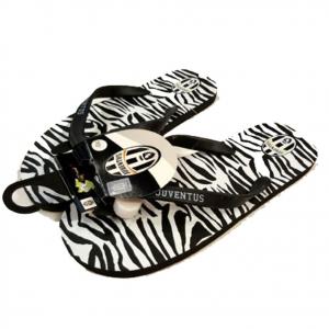 JUVENTUS infradito mare/piscina zebrate bianconere + taglie da adulto UFFICIALI