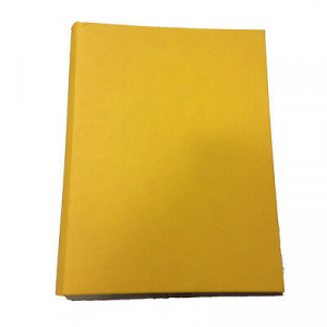 Album foto tinta unita giallo in eco-pelle 30 fogli in cartoncino e velina 23x30