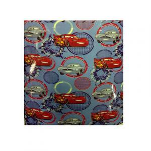 CARS plaid azzurro in pile morbido e leggero 120x150 cm da bambino