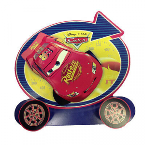 CARS appendiabiti in legno 2 ganci 26x23,5 cm da bambino