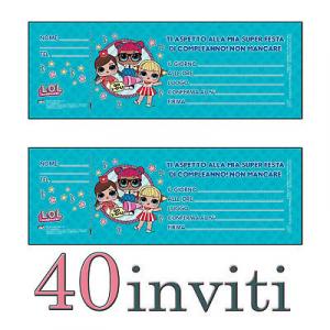 LOL Surprise! INVITI FESTA DI COMPLEANNO - 40 INVITI BAMBINA