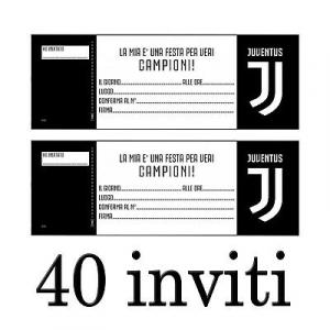JUVENTUS INVITI FESTA DI COMPLEANNO - 40 INVITI PER IL TIFOSO JUVENTINO