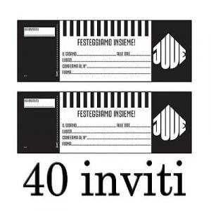 JUVENTUS INVITI FESTA DI COMPLEANNO - 40 INVITI PER IL TIFOSO JUVENTINO PRO. UFF