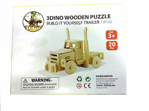 Motrice puzzle legno naturale 20 pezzi