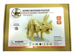 Dinosauro puzzle in legno naturale sound control 82 pz anni 6+