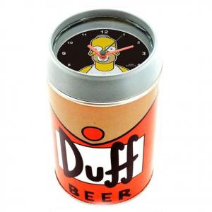 SIMPSON homer sveglia a forma di lattina di birra DUFF con contenitore 11,5 cm