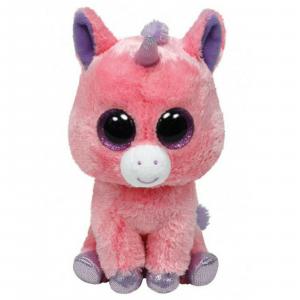 Peluche TY BEANIE BOOS MAGIC unicorno rosa15 cm IDEA REGALO