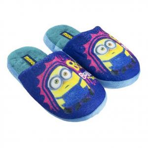 MINIONS pantofole in morbido peluches blu con palline antiscivolo varie taglie